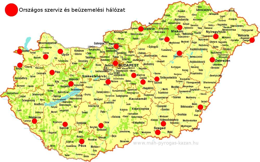 M.A.-H PyroGas faelgázosító kazán országos szerviz és beüzemelési hálózata